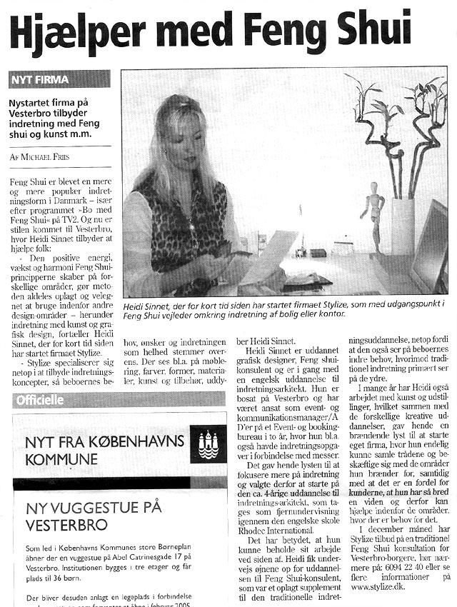 Artikel i Vesterbrobladet