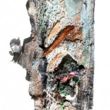 Skulptur af strand-fund