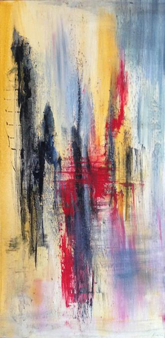 Abstrakt med rød