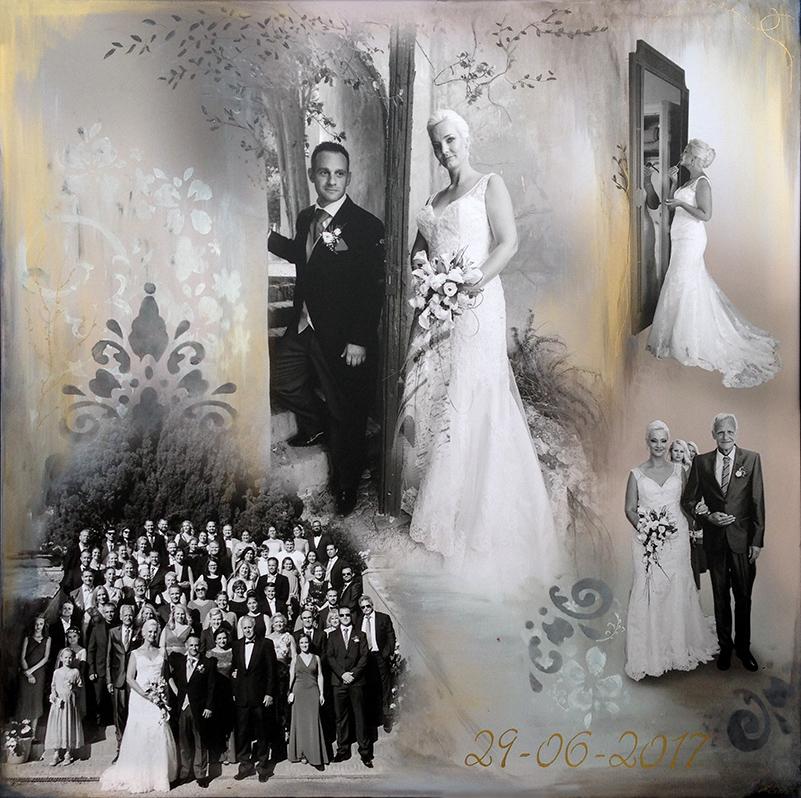 Personligt Bryllupsmaleri collage Stylize