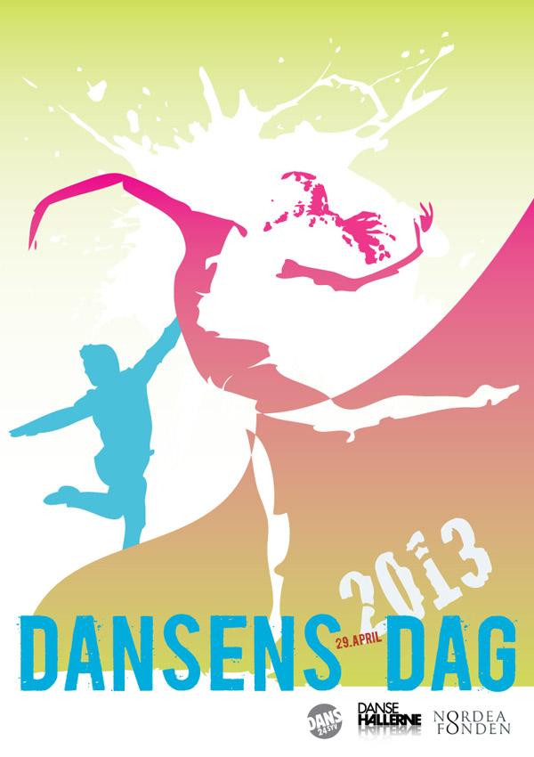 Dansens Dag plakat design stylize