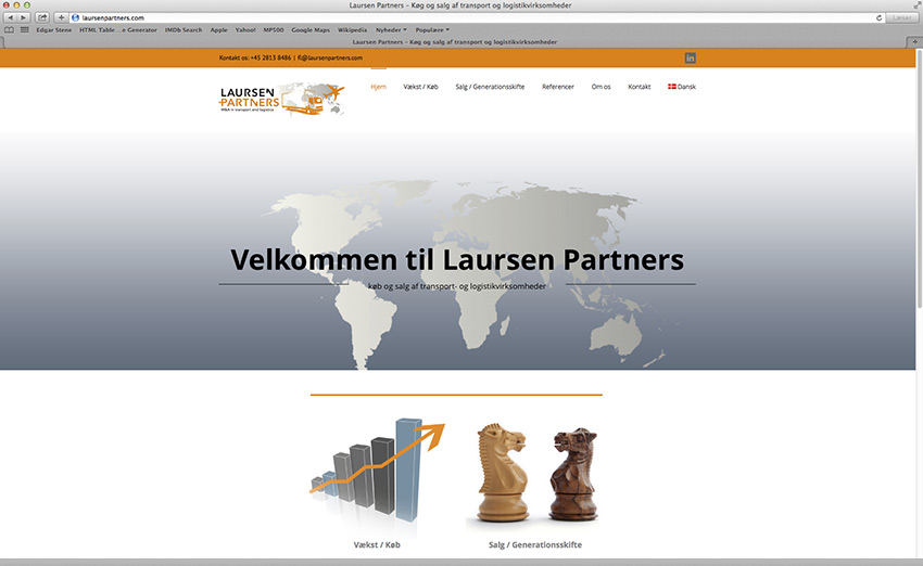 Laursen Partners website design af Stylize