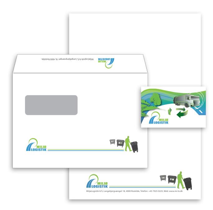Miljø Logistik visuel identitet logo design af Stylize
