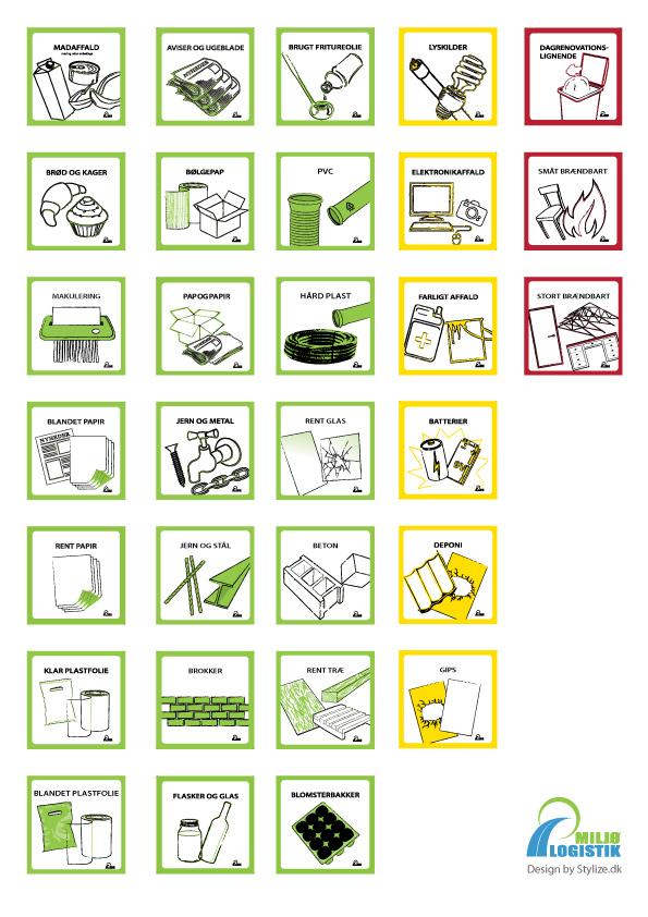 Piktogram illustration ikon oversigt