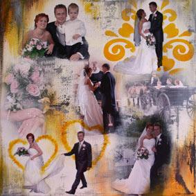Stylize personlige collage malerier