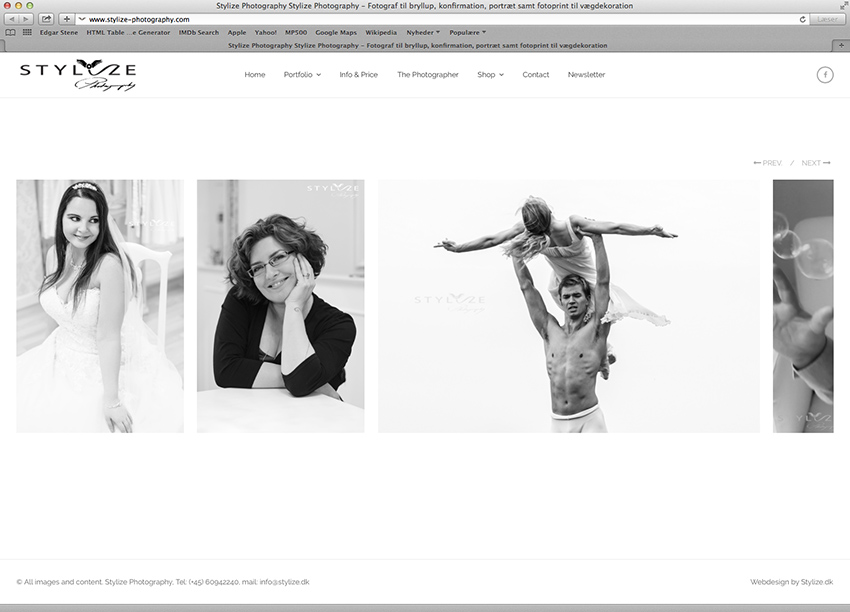 Stylize Photography website