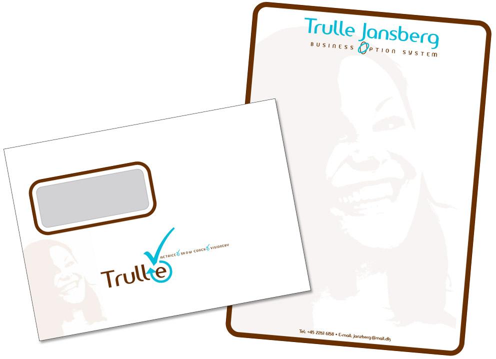 Trulle Jansberg design af brevpapir og kuvert Stylize