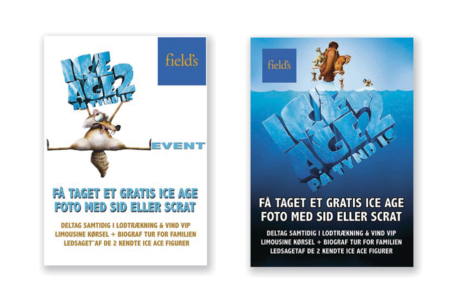 Fields Ice Age event plakater Stylize