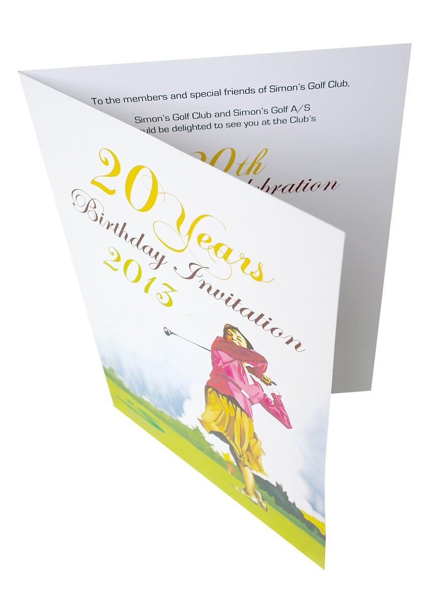 Simons Golf invitation Stylize