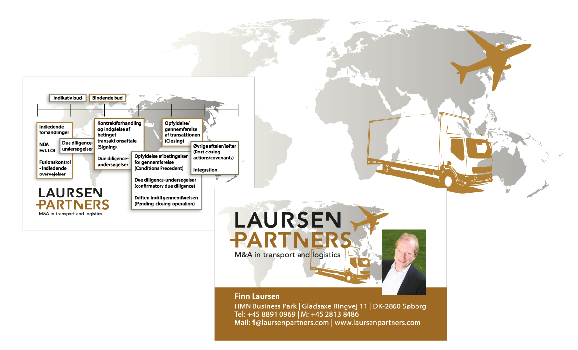 Laursen Partner visuel identitet logo visitkort Stylize
